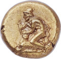 Ancients:Greek, Ancients: MYSIA. Cyzicus. Ca. 450-350 BC. EL sixth-stater or hecte (10mm, 2.65 gm). NGC Choice AU ★ 5/5 - 4...