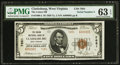 National Bank Notes:West Virginia, Clarksburg, WV - $5 1929 Ty. 2 The Union NB Ch. # 7681. ...