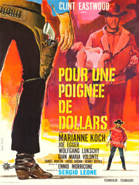 A Fistful of Dollars, For a Few Dollars More and The Good, the Bad, and the Ugly (United Artists, R-1970s). French Grand...