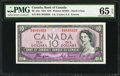 Canadian Currency: , BC-32a $10 1954 Devil's Face.. ...