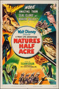 "Movie Posters:Documentary, Nature's Half Acre (RKO, 1951). One Sheet (27"" X 41""). Walt Disney True Life Adventure Documentary.. ..."