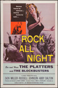 "Movie Posters:Rock and Roll, Rock All Night (American International, 1957). One Sheet (27"" X41""). Rock and Roll.. ..."