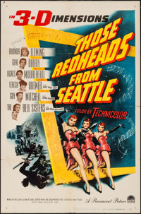 """Those Redheads from Seattle (Paramount, 1953). One Sheet (27"""" X 41""""). 3-D Style. Musical"""