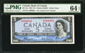 Canadian Currency: , BC-31a $5 1954 Devil's Face.. ...
