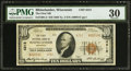 National Bank Notes:Wisconsin, Rhinelander, WI - $10 1929 Ty. 2 The First NB Ch. # 4312. ...