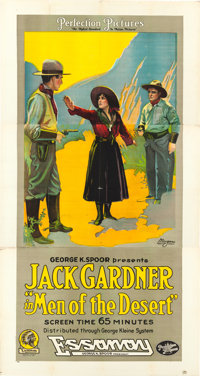 "Men of the Desert (Essanay, 1917). Three Sheet (42"" X 82"")"
