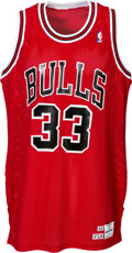 Basketball Collectibles:Uniforms, 1989-90 Scottie Pippen Game Worn Chicago Bulls Jersey. ...
