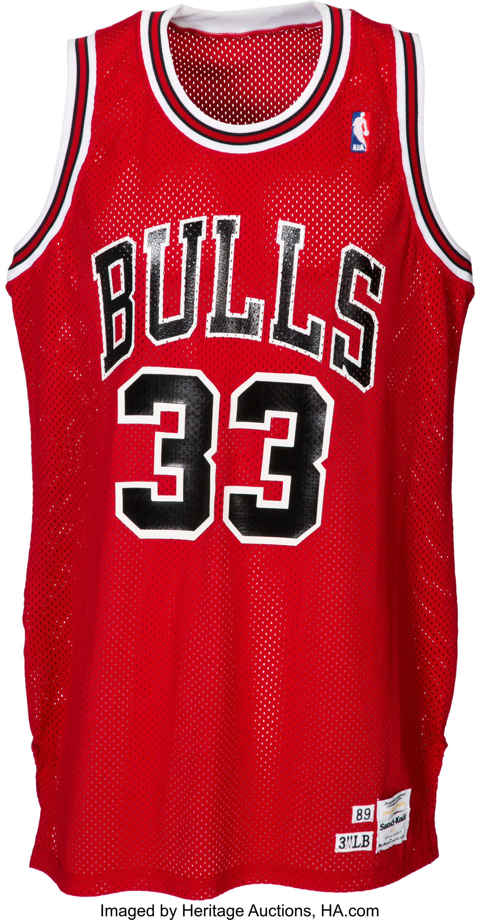 outlet store aa696 bd4e0 1989-90 Scottie Pippen Game Worn Chicago Bulls Jersey ...