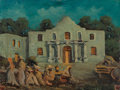 Fine Art - Painting, American, Gilbert Franz Neumann (American, 1906-1970). The Alamo by Night,An Old Mexican Shack in Boerne, Texas, A Little House Nea...(Total: 4 Items)