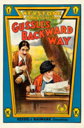 "Movie Posters:Comedy, Gussle's Backward Way (Mutual, 1915). One Sheet (28"" X 42"").. ..."