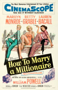 "Movie Posters:Comedy, How to Marry a Millionaire (20th Century Fox, 1953). One Sheet (27"" X 41"").. ..."
