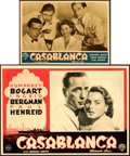 "Movie Posters:Academy Award Winners, Casablanca (Warner Brothers, 1946/R-1948). First Post-War ReleaseItalian Photobusta (13.5"" X 19"") & Italian Photobusta (9.5...(Total: 2 Items)"