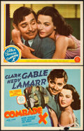 "Movie Posters:Comedy, Comrade X (MGM, 1940). Title Lobby Card and Lobby Card (11"" X14"").. ... (Total: 2 Items)"