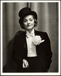 "Marlene Dietrich by Alfred Eisenstaedt (1929). Eisenstaedt Signed Portrait Photo (16"" X 20"")"