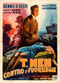 "Movie Posters:Film Noir, T-Men (Eagle Lion, 1948). Italian 2 - Fogli (39.5"" X 55"") AnselmoBallester Artwork.. ..."