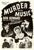 "Movie Posters:Black Films, Murder with Music (Sack Amusement Enterprises, R-1948) AKA:Mistaken Identity. One Sheet (27"" X 41"").. ..."