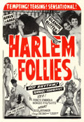 "Movie Posters:Black Films, Harlem Follies (Classic Pictures, 1949). One Sheet (28"" X 41"")....."