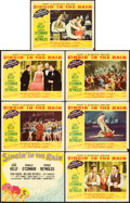 "Movie Posters:Musical, Singin' in the Rain (MGM, 1952). Deluxe Title Lobby Card &Regular Lobby Cards (6) (11"" X 14"").. ... (Total: 7 Items)"