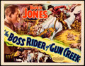 "Movie Posters:Western, The Boss Rider of Gun Creek (Universal, 1936). Title Lobby Card(11"" X 14"").. ..."