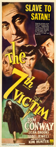 "Movie Posters:Mystery, The 7th Victim (RKO, 1943). Insert (14"" X 36"").. ..."