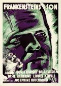 "Movie Posters:Horror, Son of Frankenstein (Universal, 1939). Swedish One Sheet (27.5"" X39.5""). Gosta Aberg Artwork.. ..."
