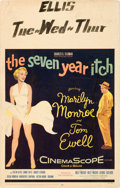 "Movie Posters:Comedy, The Seven Year Itch (20th Century Fox, 1955). Window Card (14"" X22"").. ..."