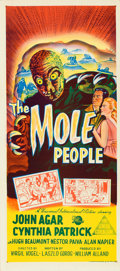 "Movie Posters:Science Fiction, The Mole People (Universal International, 1956). Australian Daybill(13"" X 30"").. ..."