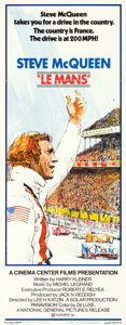 "Movie Posters:Sports, Le Mans (National General, 1971). Insert (14"" X 36"") Tom JungArtwork.. ..."