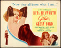 "Movie Posters:Film Noir, Gilda (Columbia, 1946). Title Lobby Card (11"" X 14"").. ..."