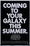 "Movie Posters:Science Fiction, Star Wars (20th Century Fox, 1977). Mylar Advance One Sheet (27"" X41"").. ..."