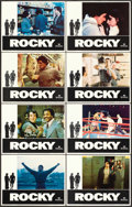 "Movie Posters:Academy Award Winners, Rocky (United Artists, 1977). Lobby Card Set of 8 (11"" X 14"").. ... (Total: 8 Items)"