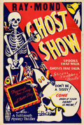 """Movie Posters:Horror, Ray-Mond Ghost Show (1940s). One Sheet (28"""" X 41"""").. ..."""