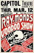 "Movie Posters:Horror, Ray-Mond Voodoo Show (1940s). Locally Produced Jumbo Window Card(22"" X 28""). ..."