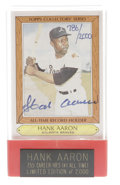 Autographs:Sports Cards, Hank Aaron & Willie Mays Signed Cards Lot of 4. From the Negro leagues to the majors and on to Cooperstown, these two HOFer...