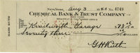 1940 Babe Ruth Signed Check. Top notch example of one of the hottest items in recent history in the world of collectors...