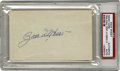 "Autographs:Index Cards, Zach Wheat Signed Index Card. An impressive blue ink signature from the Brooklyn Dodger Hall of Famer. Blank 3x5"" card is ..."