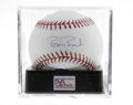 Autographs:Baseballs, Barry Bonds Single Signed Baseball, PSA Gem Mint 10. You can't beat this single from the future career Home Run King, which...