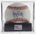 "Autographs:Baseballs, George Brett Single Signed Baseball, PSA Mint 9. Who could forgetthe famous ""freak out"" of this Hall of Fame legend when h..."