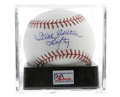 Autographs:Baseballs, Steve Carlton Single Signed Baseball, PSA Mint+ 9.5. Four-time CyYoung winner Carlton, second only to Spahn in strikeouts ...