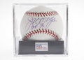 Autographs:Baseballs, Joe Morgan Single Signed Baseball, PSA Mint 9. The National LeagueMVP both seasons he led the Big Red Machine to World Cha...