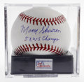 Autographs:Baseballs, Moose Skowron Single Signed Baseball, PSA Mint 9. Yankee collectorsare well-advised to pick up this special sphere, notate...