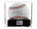 Autographs:Baseballs, Dave Winfield Single Signed Baseball, PSA Gem Mint 10. He was bornon the day that Bobby Thomson hit his Shot, and half a c...