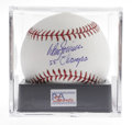 "Autographs:Baseballs, Don Zimmer Single Signed Baseball, PSA Gem Mint 10. The answer tothe trivia question, ""Who is the only man to appear in un..."