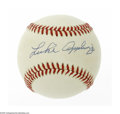 Autographs:Baseballs, Luke Appling Single Signed Baseball. OAL (Brown) baseball offers9/10 blue ink sweet spot signature from the Hall of Fame C...