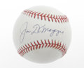 Autographs:Baseballs, Joe DiMaggio Single Signed Baseball. No serious baseball autographcollection could be considered complete without a specim...