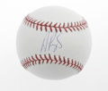 Autographs:Baseballs, Albert Pujols Single Signed Baseball. Considered by many to be thepremier slugger in the game today. A flawless blue ink ...