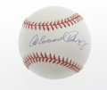 Autographs:Baseballs, Alex Emmanuel Rodriguez Single Signed Baseball. Highly desirablefull name sweet spot signature puts this A-Rod ball above ...