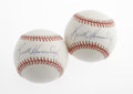 Autographs:Baseballs, Keith Hernandez Single Signed Baseballs Lot of 2. Each of these ONL(Coleman) baseballs sports a perfect blue ink sweet spo... (Total:2 Items)