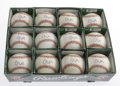 Autographs:Baseballs, Greg Maddux Single Signed Baseballs Lot of 12. One dozen Rawlingsofficial 1995 World Series baseballs are signed on the sw...(Total: 12 Items)