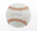 Autographs:Baseballs, Cal Ripken, Jr. Single Signed Baseballs Lot of 2. The Iron Man ofbaseball has tagged each of these OAL (Budig) baseballs o...(Total: 2 Items)